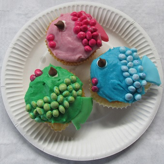 Fishy cup cakes