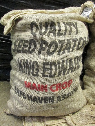 A sack of King Edward potatoes