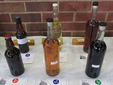 A display of wine and beer