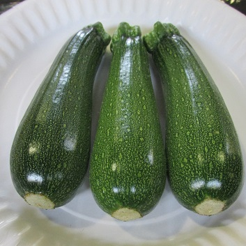 Three courgettes