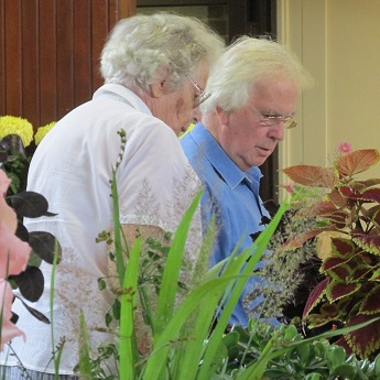 Judging of the flowers