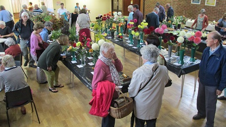 Visitors looking round the show