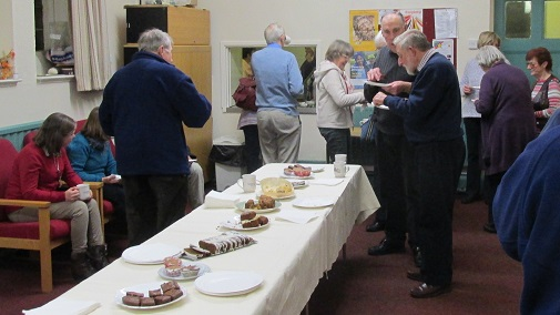 Members enjoying refreshments after the AGM