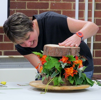 A flower arranging demo from Claire