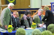 The panel at Gardeners' Questions evening