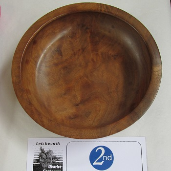 A turned wooden bowl