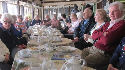 Members enjoying the February Coffee Morning