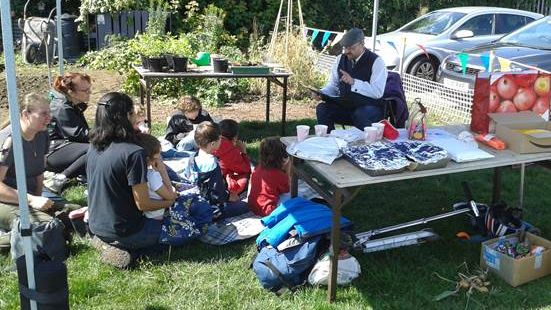 Story telling at the Seedlings Workshop