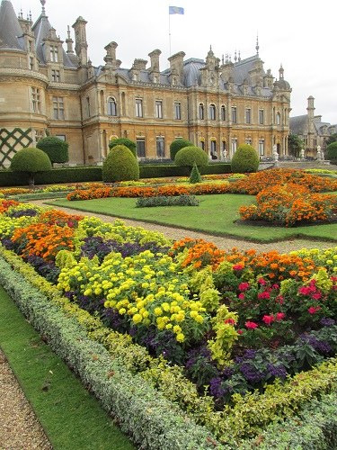A view of Waddesdon Manor and parterre