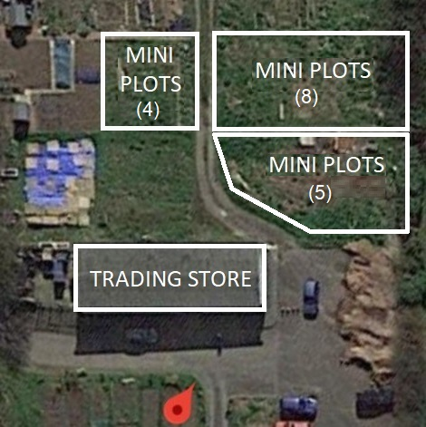 A photo of where the Mini Plots are